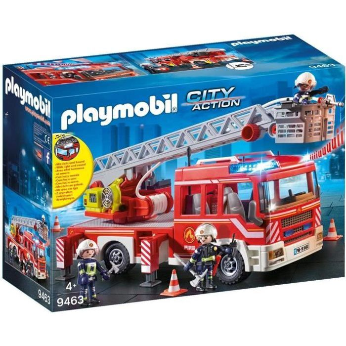 Photo de playmobil-9463-city-action-camion-de-pompiers-avec