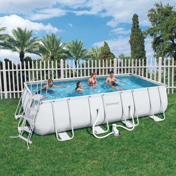 Piscine bestway tubulaire 549cmx274cmx122cm achat for Piscine tubulaire intex rectangulaire