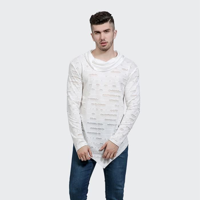 Simples Homme À Shirt T Mannequin Manches Rayures YEWH9eDI2b