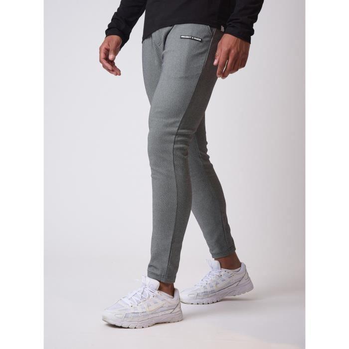Hommes Pantalon Pantalon coupe droite taille élastique Business formelle Loose Summer Noir