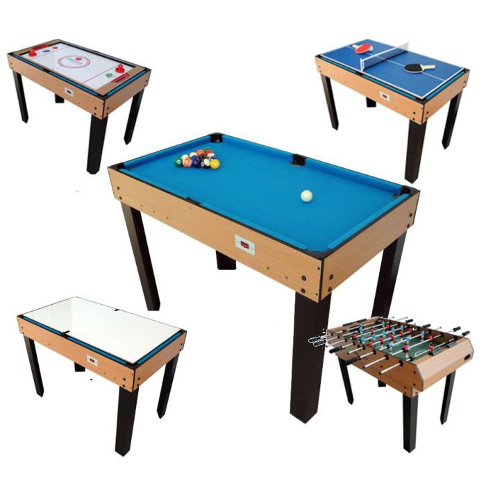 Billard table multi jeux 12 en 1 achat vente table multi jeux cdiscount - Table multi jeux 5 en 1 ...