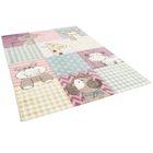 Maui Kids Tapis pour enfant motif animaux b/éb/é rose multicolore 3 tailles disponibles