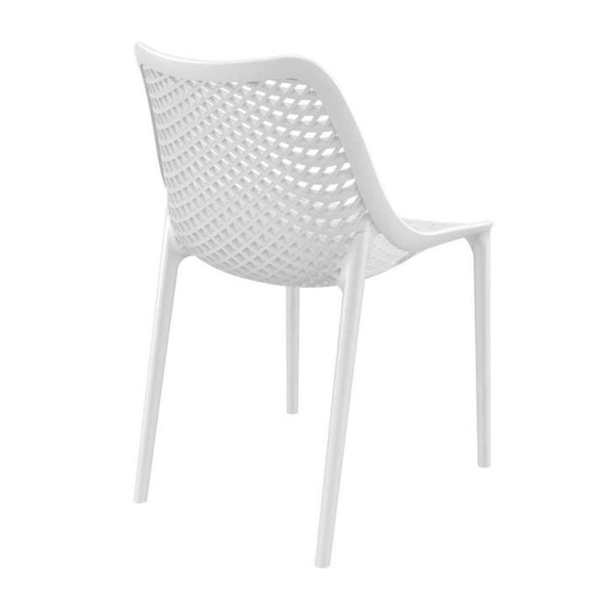 Chaise moderne en plastique blanc - 5 x 5 x 5 cm