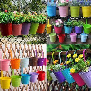 JARDINIÈRE - BAC A FLEUR Kit 10 pcs Pots de Fleurs Pot Plante Suspendu 10 C