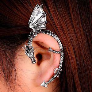 boucle d'oreille pendante dragon