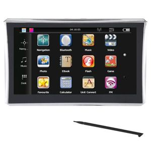 GPS AUTO 7 Pouces Navigateur GPS FM Bluetooth Ecran tactile