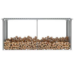 ABRI JARDIN - CHALET Cent Shopping Abri de stockage de bois Acier galva