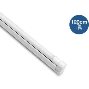 TUBE LUMINEUX Kit réglette + tube LED T8 120cm 18W - Température