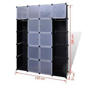 ARMOIRE DE CHAMBRE Cabinet modulable pratique ARMOIRE DE CHAMBRE avec