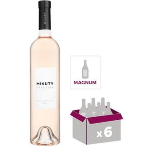 VIN ROSÉ Lot de 6 Magnums de Minuty Prestige Rosé 2018 1,5L
