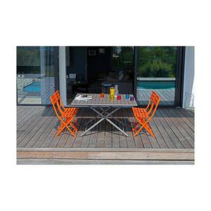 TABLE DE JARDIN  Table pliante 130 x 130 cm Café - GLOBE