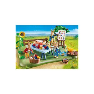 UNIVERS MINIATURE PLAYMOBIL 6863 Atelier créatif avec lapins