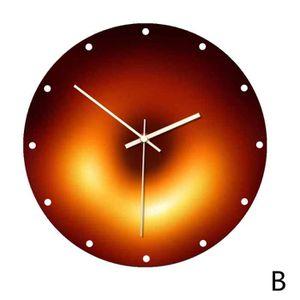 K9CK 30cm Horloge Murale Silencieuse Bois Horloge Pendule Murale Style Vintage Marron