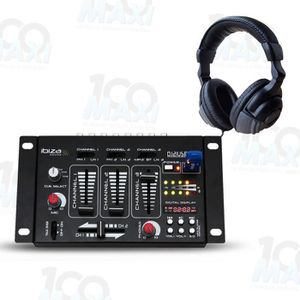 TABLE DE MIXAGE Table de mixage - 4 Voies - 7 Canaux USB-MP3 + Cas