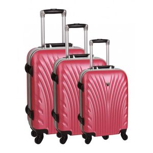 SET DE VALISES Set de 3 valises 4 roues prague rose
