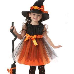 Nouvelle filles bambin MIGNON Halloween Citrouille Fantaisie Robe Costume Âge 2-3 Ans
