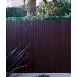 CLÔTURE - GRILLAGE Canisse de jardin en Pvc double face coloris noyer