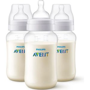 BIBERON  PHILIPS AVENT SCF816/37 Lot de 3 biberons Anti-col