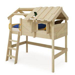 LIT MEZZANINE WICKEY Lit mezzanine en bois CrAzY Cove pour enfan
