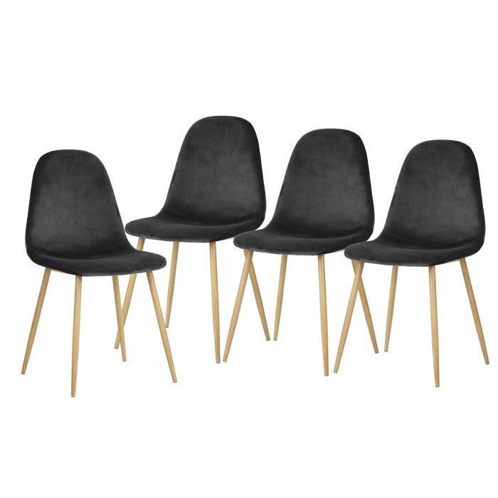 gris Chaise et metal scandinave bois dBhQxtsCor