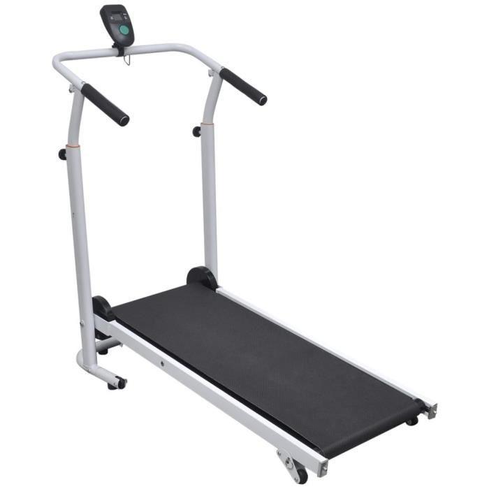 Mini Tapis roulant électrique Tapis de coursee Cardio fitness multifonctions pliable - 93 x 36 cm Noir