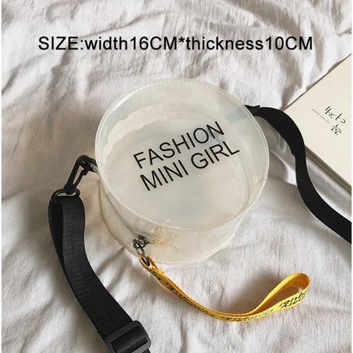 SAC A DOS,Femmes sac à dos Transparent pour enfant Mini petit sac à dos PVC gelée claire sac à dos lettre imprimer - Type H029white