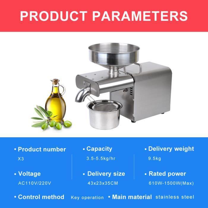 Presse à huile automatique extracteur d'huile de lin domestique presse à huile d'arachide presse à huile presse à froid