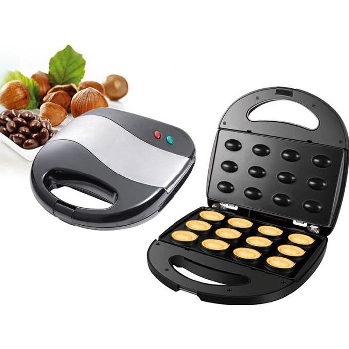 Machine à Biscuits antiadhésive électrique Machine à gâteaux aux Noix Mini Outil de Cuisson Automatique pour la Cuisine
