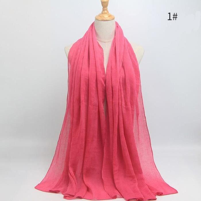 Foulard hijab en coton froissé, écharpe douce, écharpe chaude, écharpe chaude, châle, 25 couleurs, Design hiver, tendanc DY5178