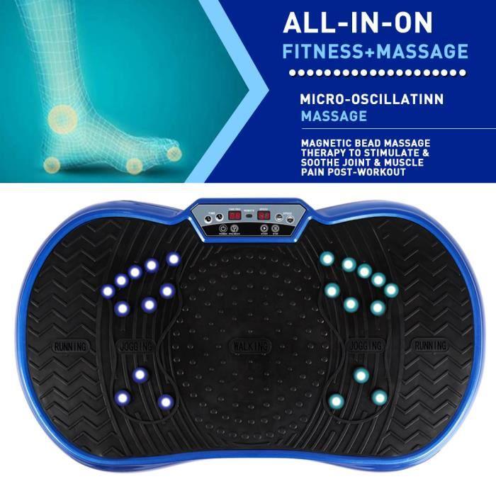 [Soultodaydeals] Plateforme Vibrante Fitness - oscillante cardio fitness avec Ecran d´affichage LCD - Bleu