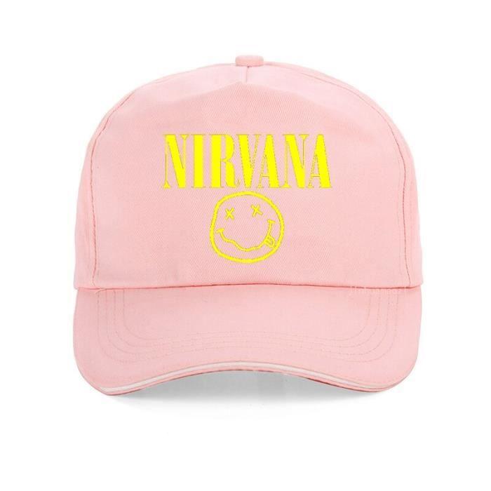 Nirvana casquette de baseball pour hommes et femmes, bande rock, chapeau imprimé pour papa, marque à Rose