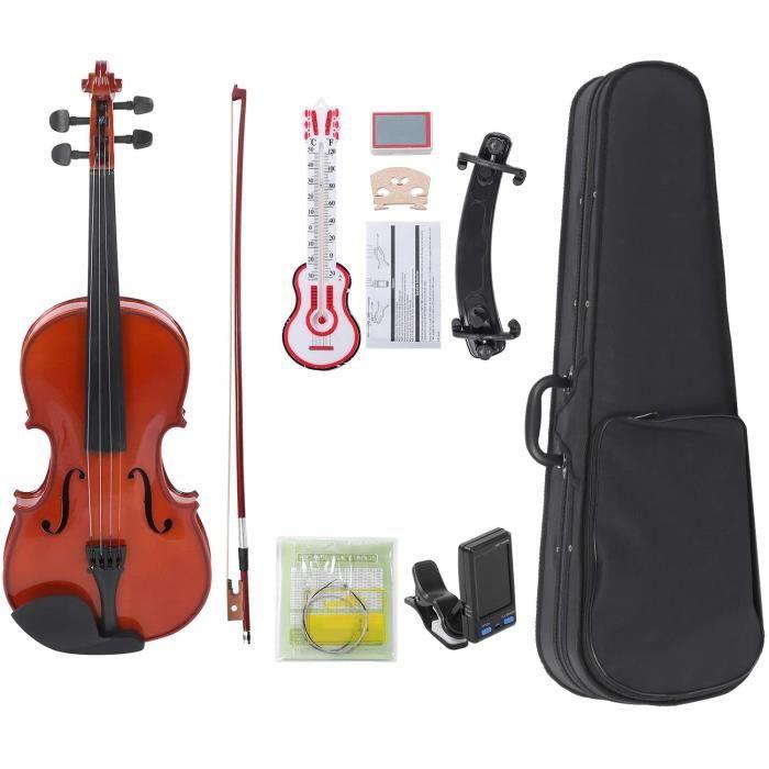Violon, 4-4 Bois Naturel Couleur Adulte Enfants Débutant Pratique Instrument de Musique en Bois45
