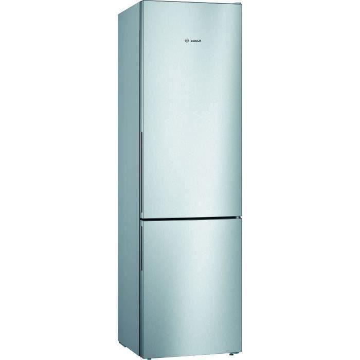 BOSCH KGV39VLEAS - Réfrigérateur congélateur bas - 344L (250+94) - Froid brassé - A++ - L 60cm x H 201cm - Inox