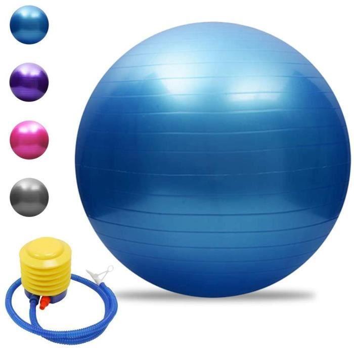 Balle de yoga Balle d'équilibre Pilates Barre de gymnastique physique Balle d'exercice physique 45 cm Bleu