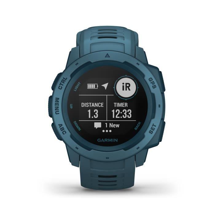 Garmin Instinct®- Montre GPS robuste - Bleu lac