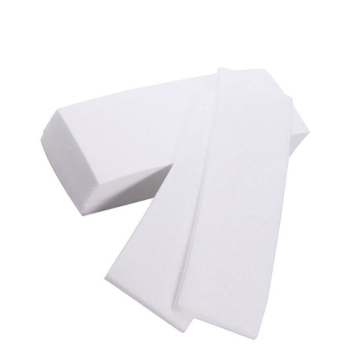 100pcs professionnel visage corps épilation à la cire bandes papier épilateur non tissé