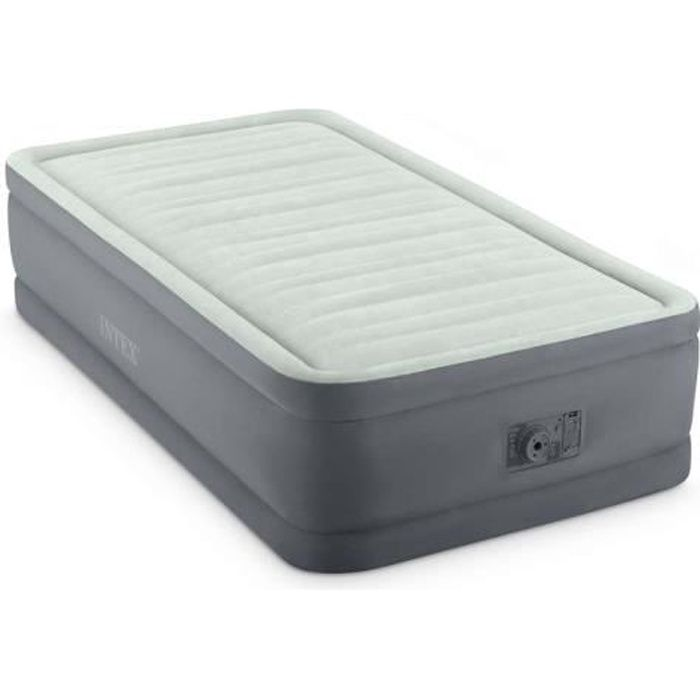 Matelas gonflable Prem'Aire I Fiber Tech 1 place - Intex