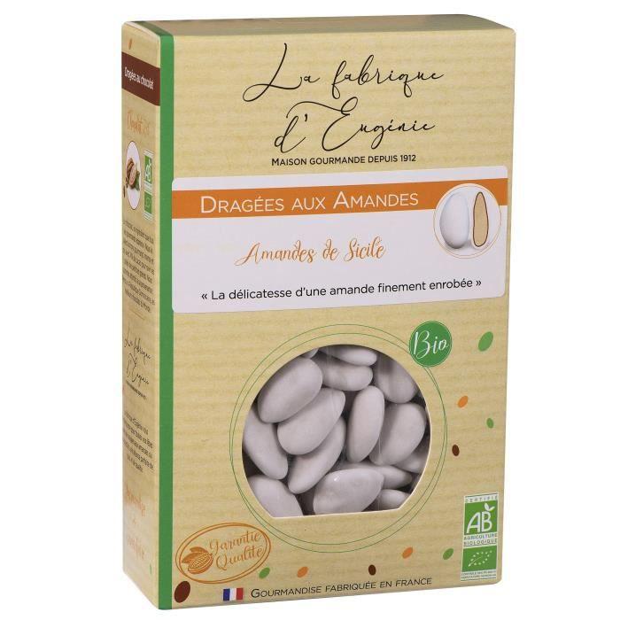 LA FABRIQUE D'EUGENIE Dragées aux Amandes de Sicile - Blanc - 500 g
