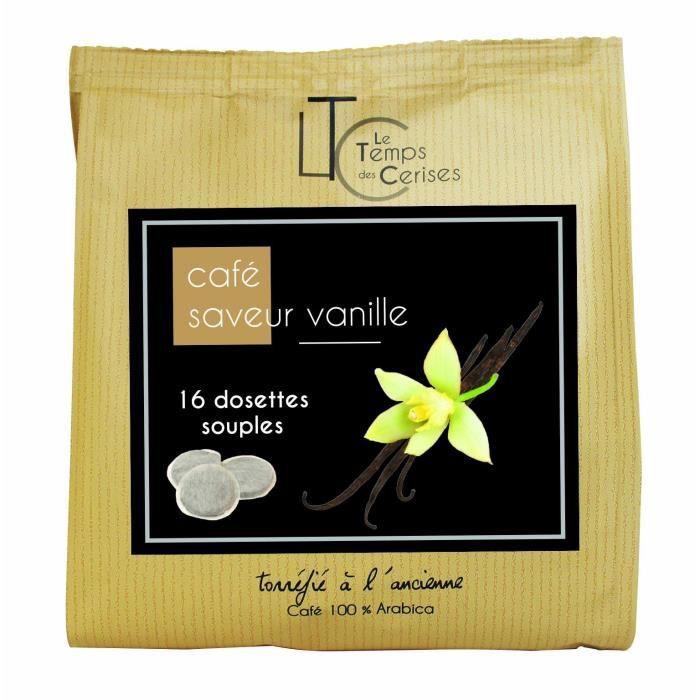 LE TEMPS DES CERISES Dosette Café Saveur Vanille Sachet De 16 - 112g