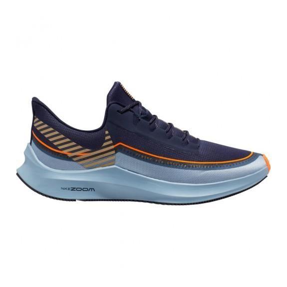 Zapatillas Hombre Nike Zoom Winflo 6 Azul/Marino/Naranja BQ3190-400 T:43 C:VARIOS COL