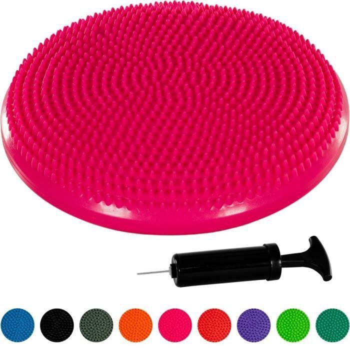 MOVIT Coussin d'équilibre et d'assise gonflable 33 cm, Rose