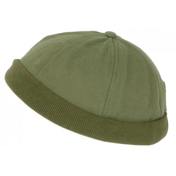 Bonnet Docker Vert en Coton Homme et Femme Mode Hodok - Taille unique - Vert