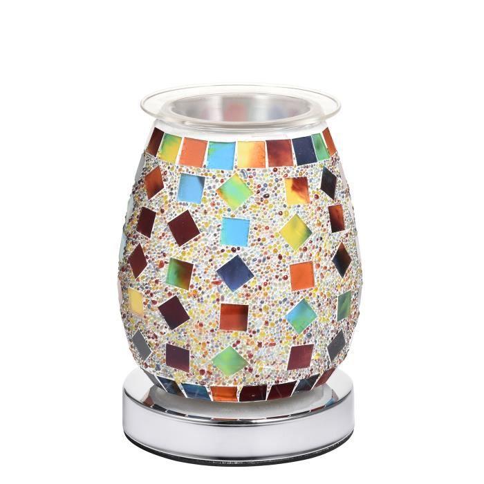 Lampe Puissante Huile Mosaïque Aroma Électrique Warmerie De Parfum D'Huile De Parfum Pour Chambre À Coucher Salle De Séjour Eu Plug