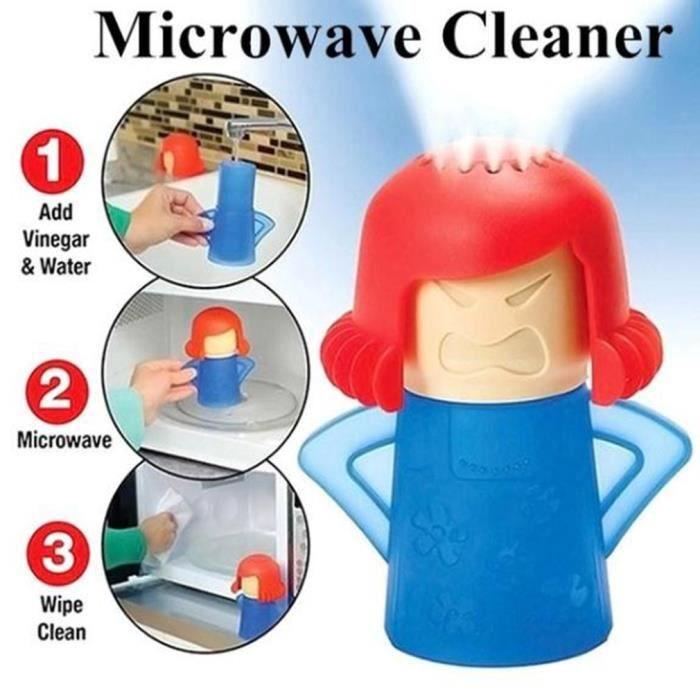 Nettoie les Fours Micro Ondes bleu