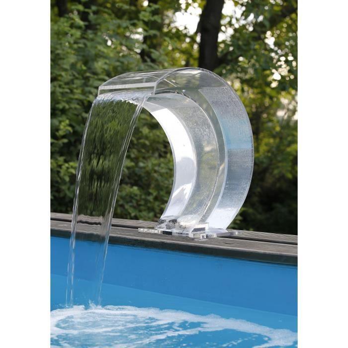 UBBINK Cascade Mamba en acrylique avec LED pour piscine - 54x30x32 cm - Transparent
