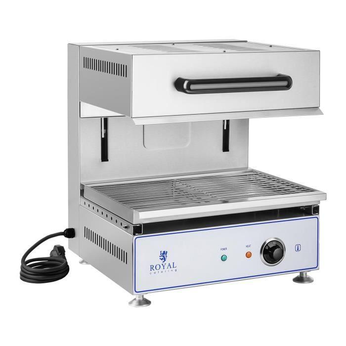 salamandre toaster four inox gratineur toasteur hauteur réglable 2800 w 230 v