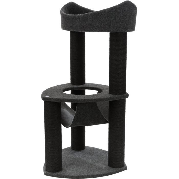 TRIXIE Arbre à chat Felipe, feutre - 110 cm - Gris foncé et gris clair
