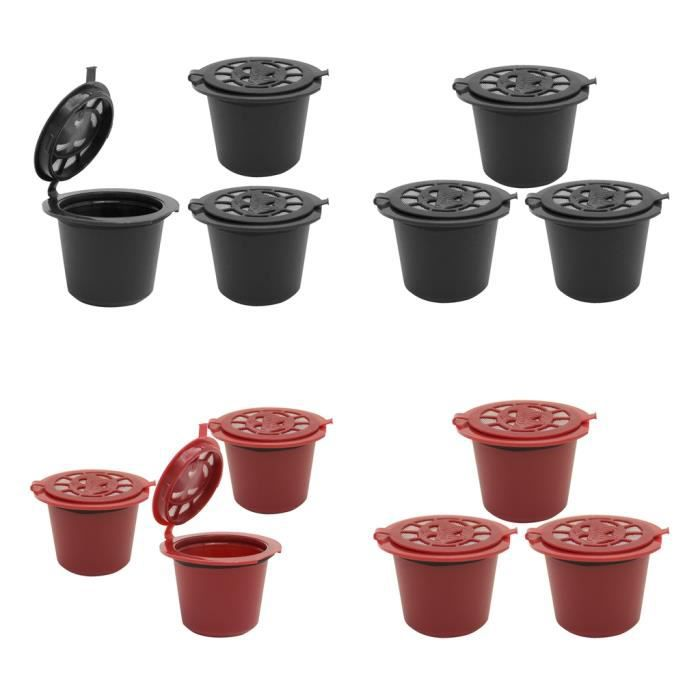 Filtre à De Dosette De Café Réutilisable Sans BPA 12Pcs Pour Machine Nespresso