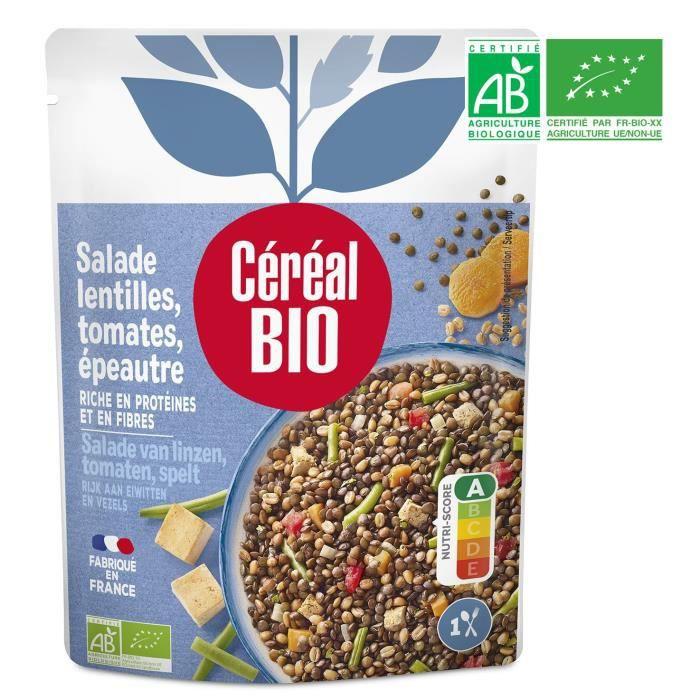 CEREAL BIO Salade de lentilles, épeautre, tofu et petits légumes Bio - 220 g