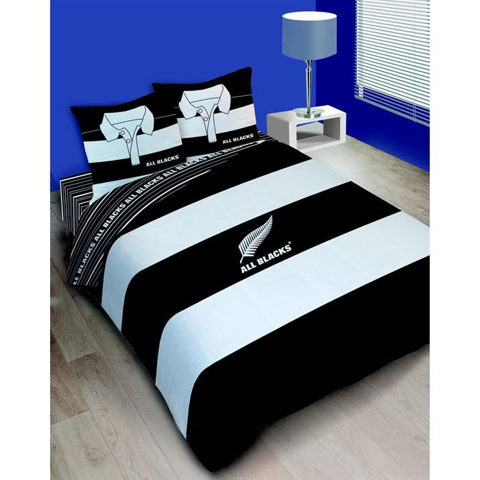 housse de couette all black polo 200x200 achat vente parure de couette cdiscount. Black Bedroom Furniture Sets. Home Design Ideas
